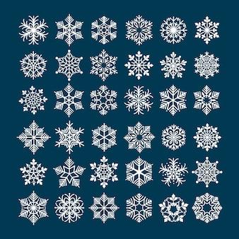 Conjunto de floco de neve