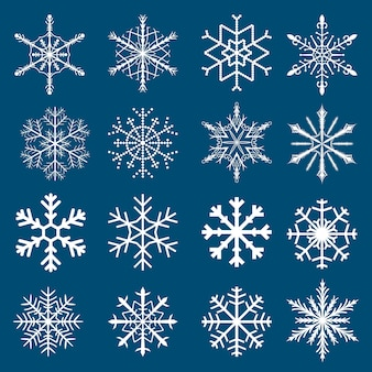 Conjunto de flocos de neve de vetor