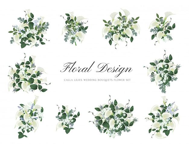 Conjunto de flores de casamento buquês