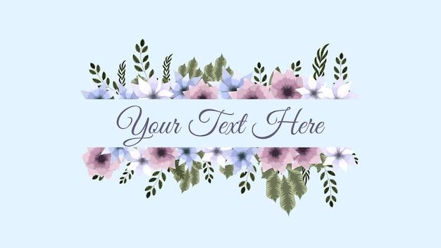 Conjunto de flores de elementos florais vetoriais, quadros de cartões comemorativos detalhados