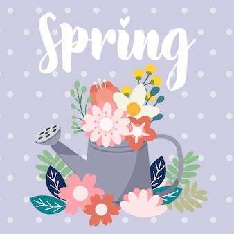 Conjunto de flores de primavera