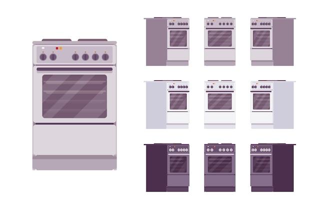 Conjunto de fogão de cozinha