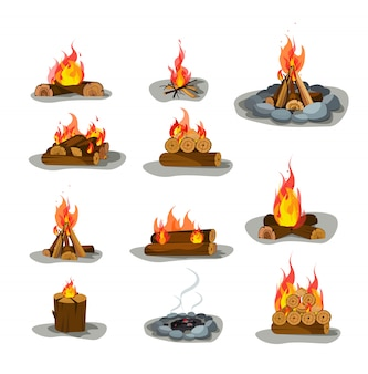 Conjunto de fogueira