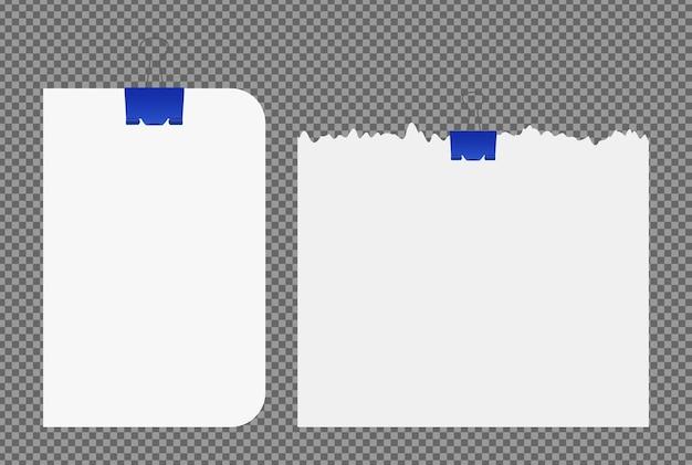 Conjunto de folhas de papel a4, a5 com sombras, página de papel realista