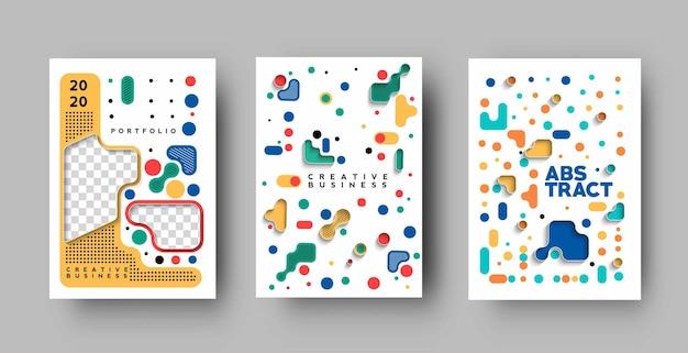 Conjunto de folheto e design de capa de cartaz em ilustração de modelo de tamanho a4.
