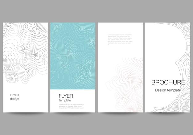 Conjunto de folhetos com modelo de design moderno