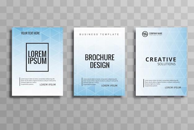 Conjunto de folhetos comerciais modernos