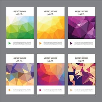 Conjunto de folhetos de capas modernas