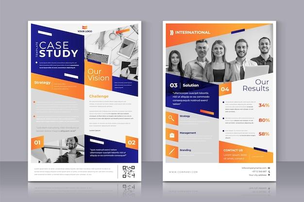 Conjunto de folhetos de estudo de caso de gradiente