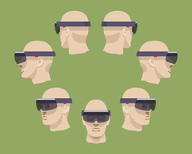 Conjunto de fones de realidade virtual