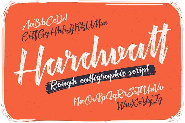 Conjunto de fontes caligráficas