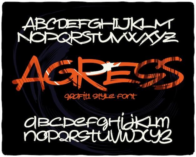 Conjunto de fontes de estilo graffiti