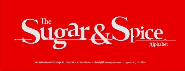 Conjunto de fontes de letras do alfabeto elegante. fontes de tipografia estilo clássico, maiúsculas, minúsculas e número regulares.