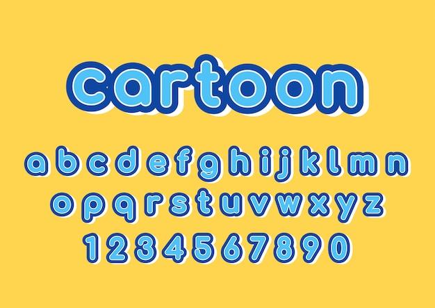 Conjunto de fontes de texto divertido decoração dos desenhos animados