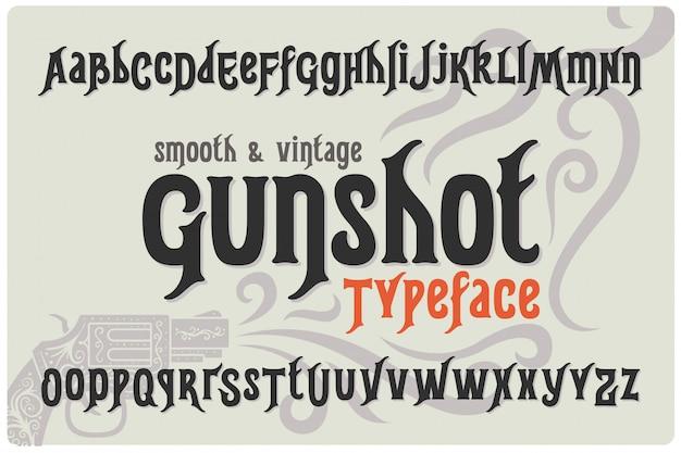 Conjunto de fontes texturizadas vintage
