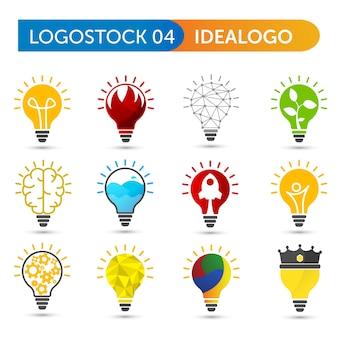 Conjunto de forma de logotipo do bulbo