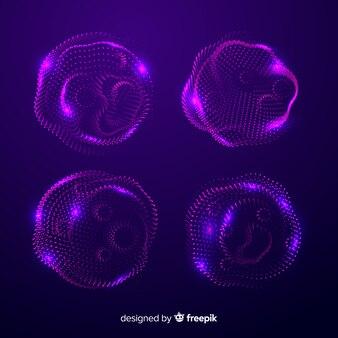 Conjunto de forma de partícula abstrata