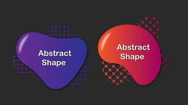 Conjunto de forma líquida abstrata colorida