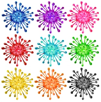 Conjunto de formas coloridas