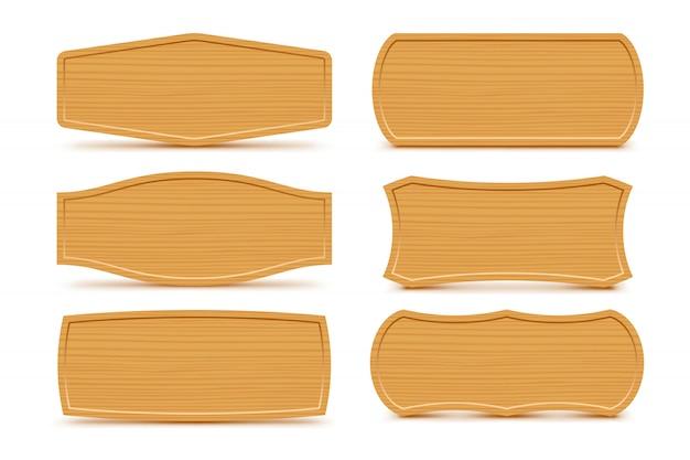 Conjunto de formas de madeira
