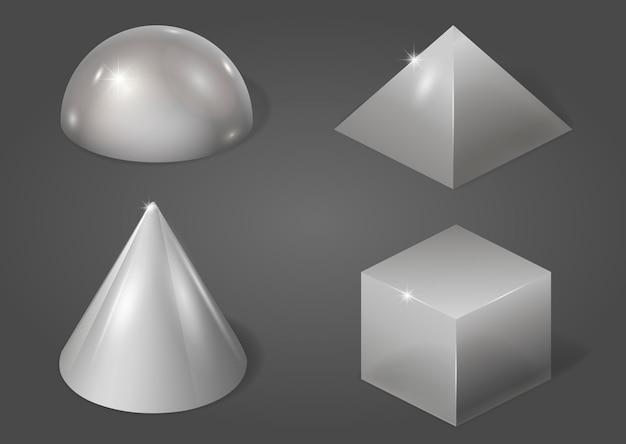 Conjunto de formas de metal