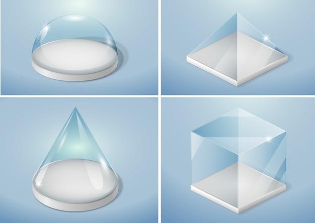 Conjunto de formas de vidro