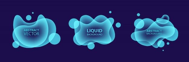 Conjunto de formas fluidas abstratas