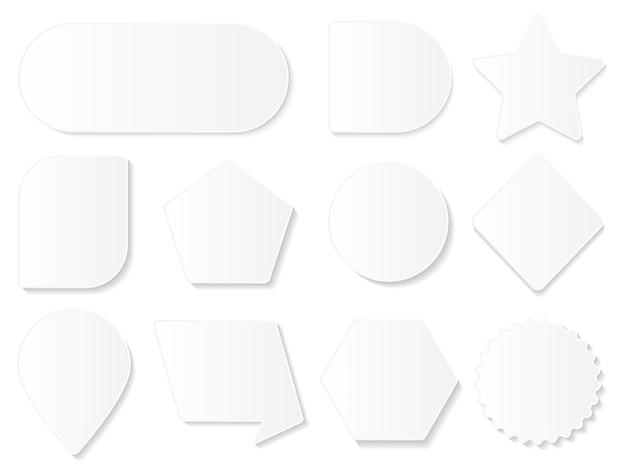 Conjunto de formas geométricas brancas