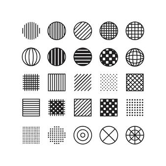 Conjunto de formas geométricas vintage de memphis