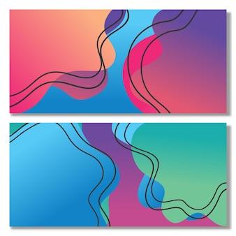 Conjunto de formas líquidas abstratas design fluido abstrato moderno gráfico líquido formas gradientes
