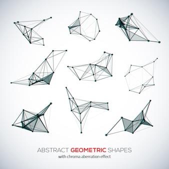 Conjunto de formas poligonais abstratas