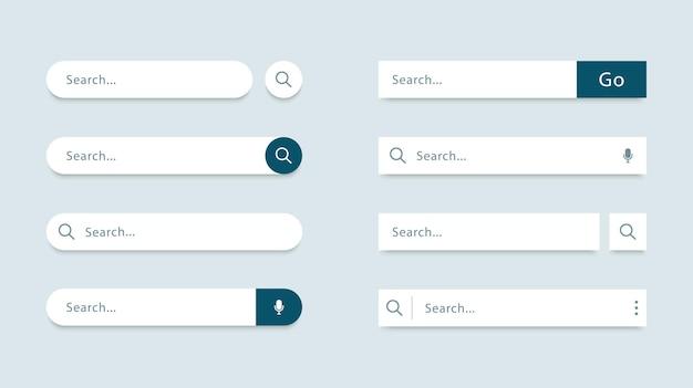 Conjunto de formulários de pesquisa de modelo de barra de pesquisa para sites