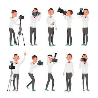 Conjunto de fotógrafo profissional