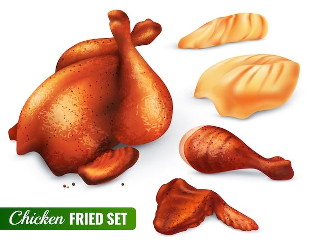 Conjunto de frango frito