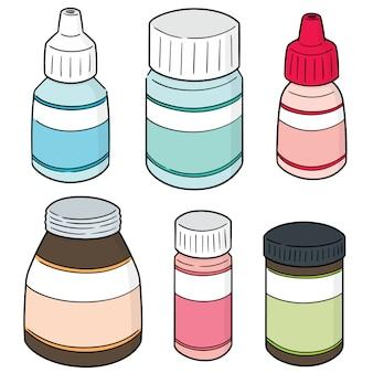 Conjunto de frasco de medicamento