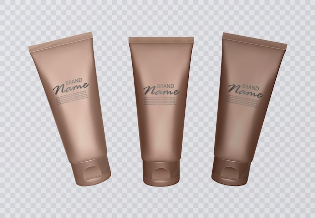 Conjunto de frascos de concentrado autobronzeador. vários tons de queimadura de sol, pele bronzeada.