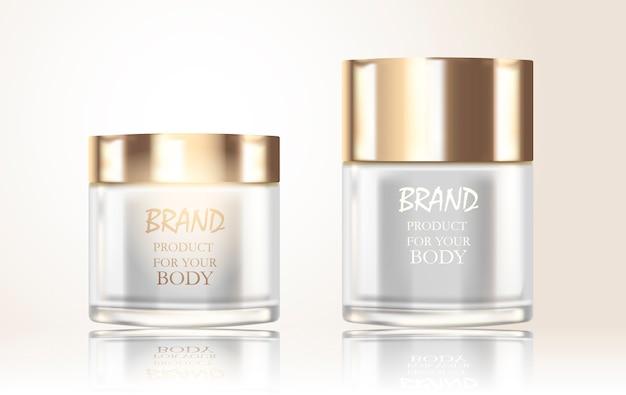Conjunto de frascos de cosméticos