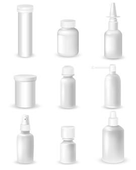 Conjunto de frascos de medicamento