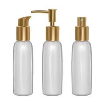 Conjunto de frascos de perfume isolado