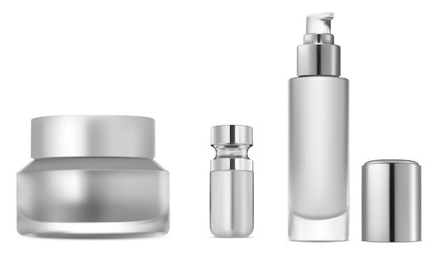 Conjunto de frascos de soro cosmético