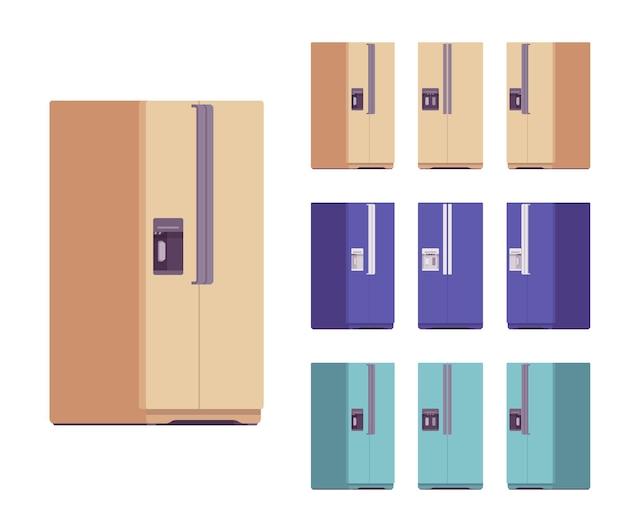 Conjunto de frigoríficos, equipamento de cozinha