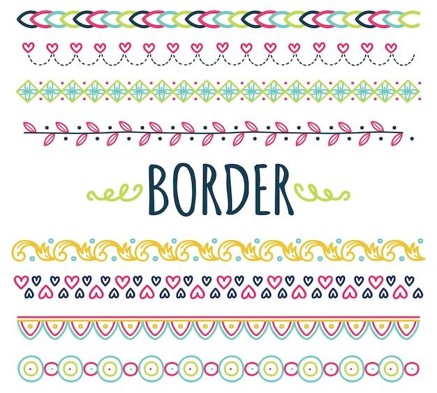Conjunto de fronteiras de doodle