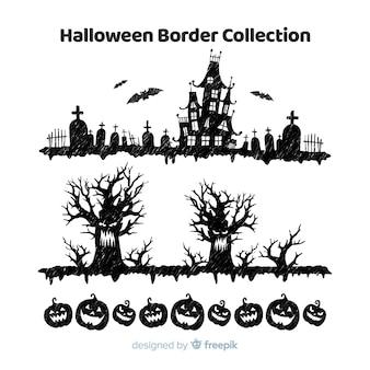 Conjunto de fronteiras do dia das bruxas