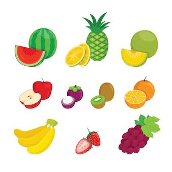 Conjunto de frutas