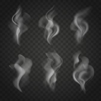 Conjunto de fumaça translúcido