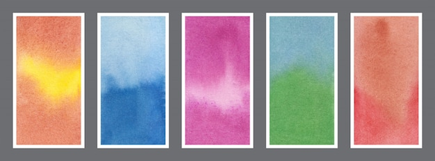 Conjunto de fundo abstrato aquarela web banner