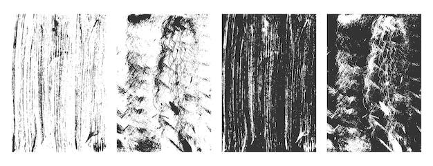 Conjunto de fundo abstrato de textura grunge