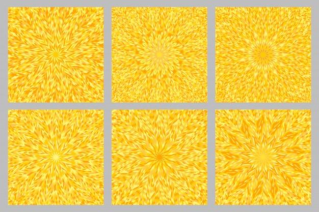Conjunto de fundo abstrato explosão circular padrão