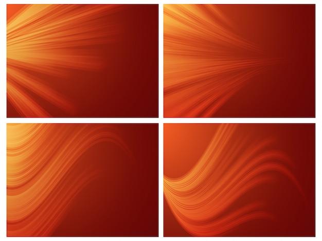 Conjunto de fundo abstrato laranja.