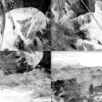 Conjunto de fundo abstrato pincelada
